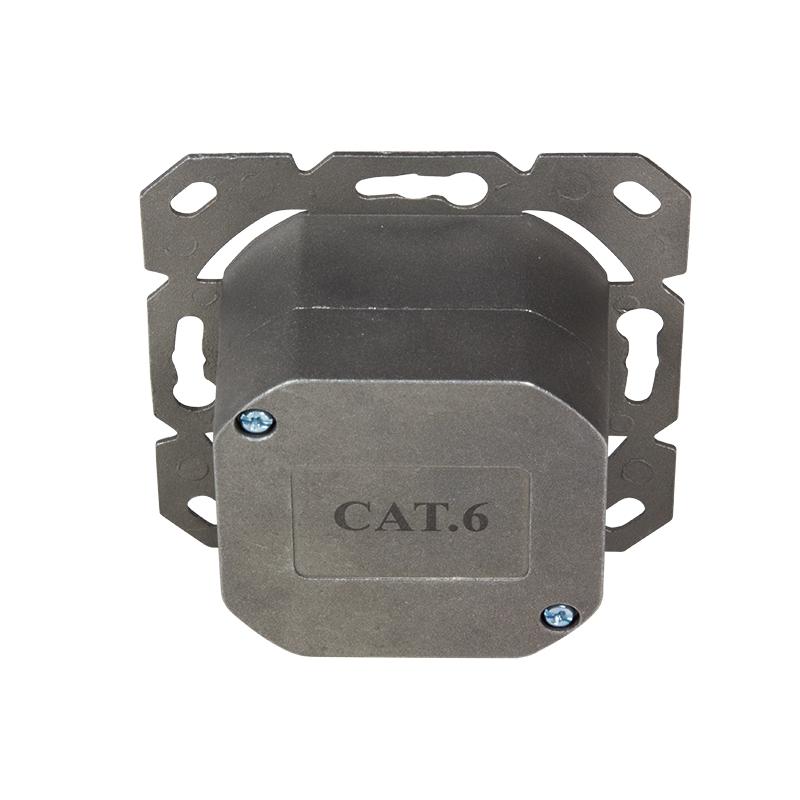 cat6 netzwerkdose netzwerk dose kombidose aufputz unterputz gigabit lan 2x rj45 ebay. Black Bedroom Furniture Sets. Home Design Ideas