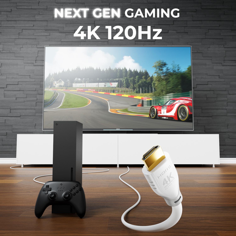 5m hdmi kabel wei 2 0 1 4 ethernet 4k uhd full hd 3d tv. Black Bedroom Furniture Sets. Home Design Ideas